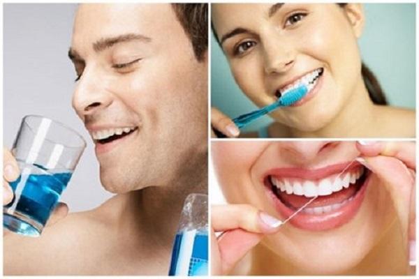 Vệ sinh răng miệng cẩn thận và thường xuyên
