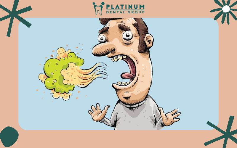 Dấu hiệu nhận biết hôi miệng là hơi thở có mùi khó chịu